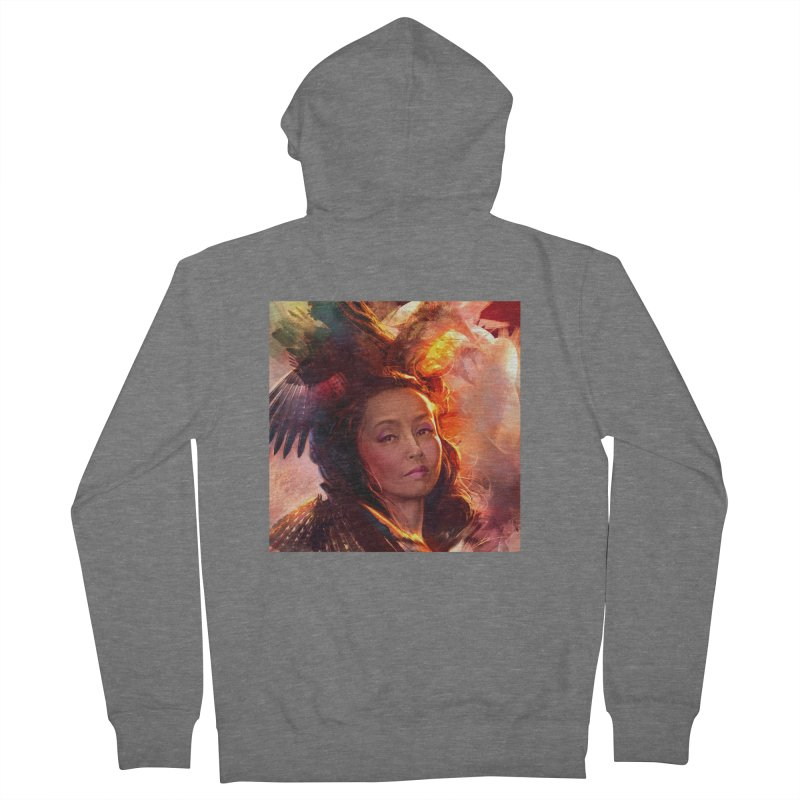 Nevermore Women's French Terry Zip-Up Hoody by Draw Juice Custom Art Prints