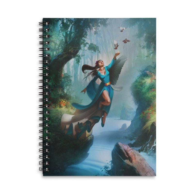 Wind Walker Accessories Lined Spiral Notebook by Draw Juice Custom Art Prints