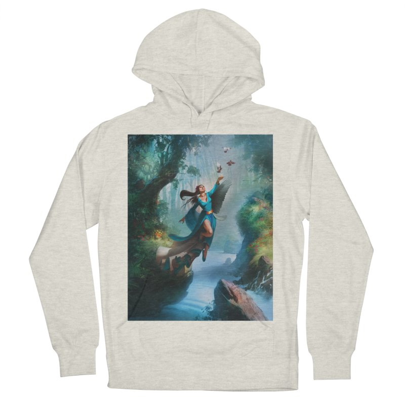 Wind Walker Men's French Terry Pullover Hoody by Draw Juice Custom Art Prints