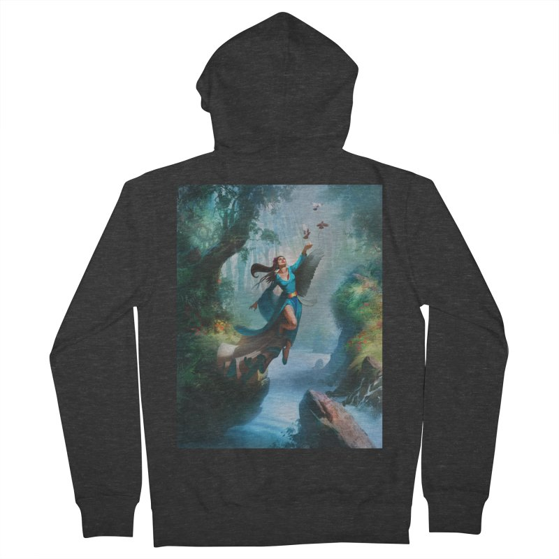 Wind Walker Women's French Terry Zip-Up Hoody by Draw Juice Custom Art Prints