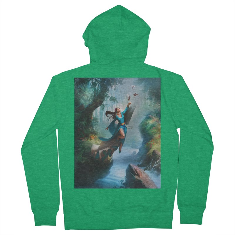 Wind Walker Men's French Terry Zip-Up Hoody by Draw Juice Custom Art Prints