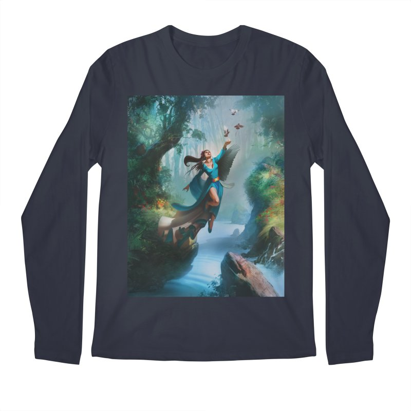Wind Walker Men's Regular Longsleeve T-Shirt by Draw Juice Custom Art Prints
