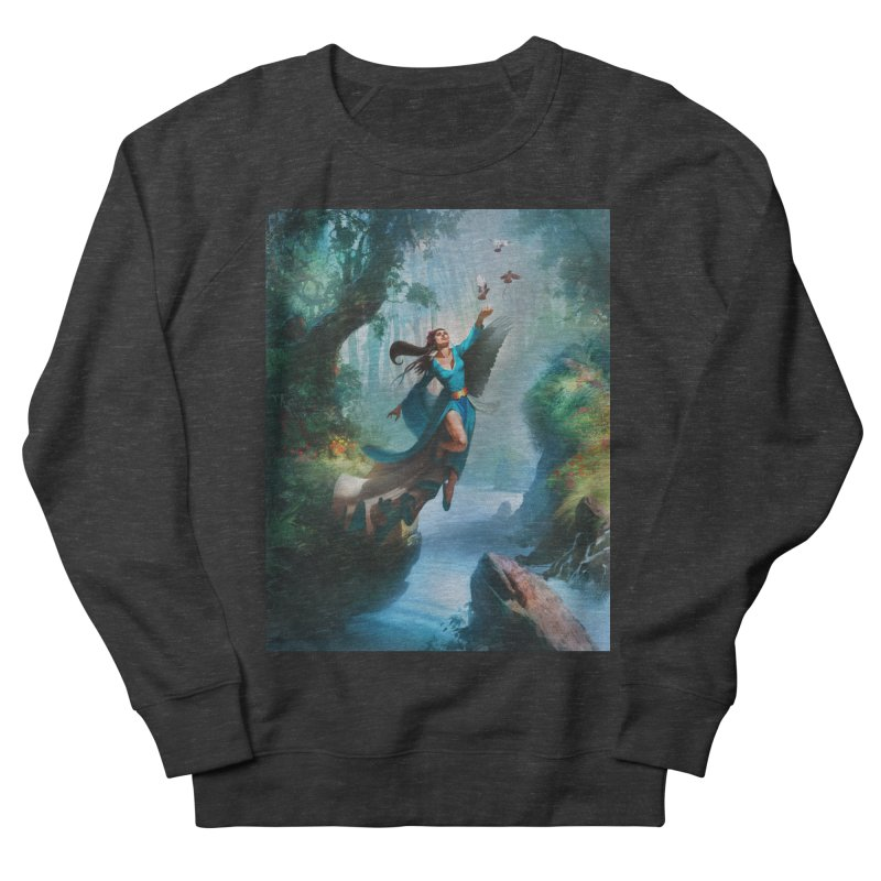 Wind Walker Women's French Terry Sweatshirt by Draw Juice Custom Art Prints