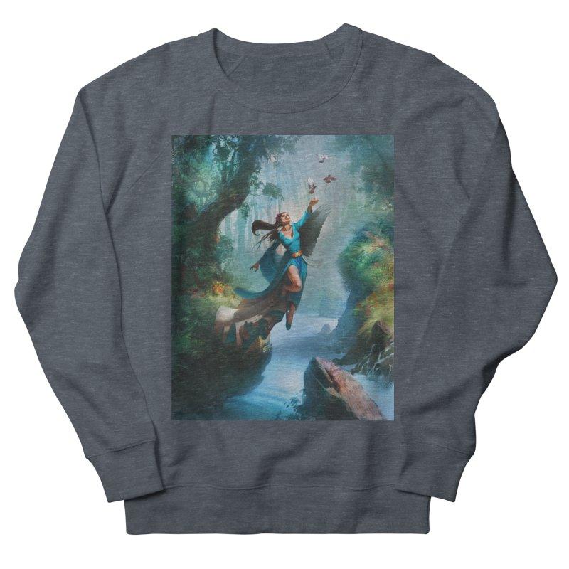 Wind Walker Men's French Terry Sweatshirt by Draw Juice Custom Art Prints