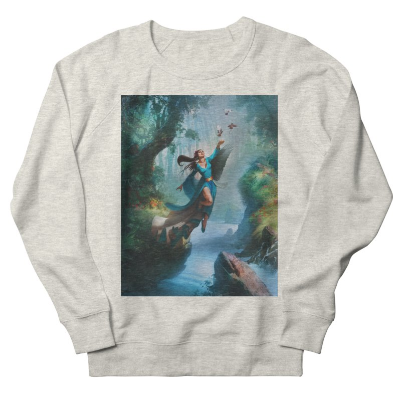 Wind Walker Men's French Terry Sweatshirt by Draw Juice Custom Art Prints
