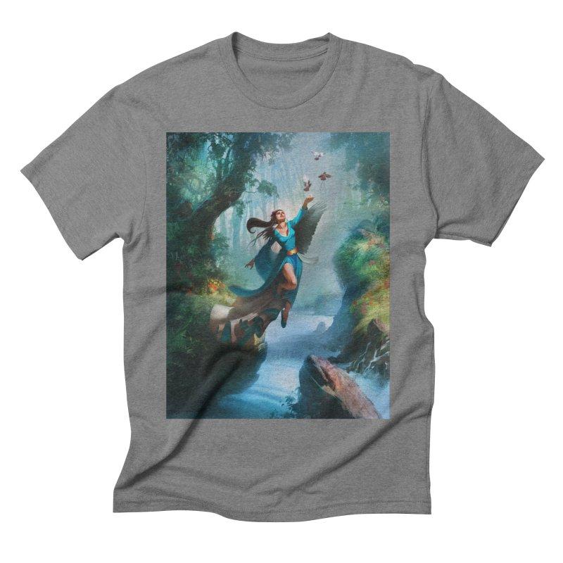Wind Walker Men's Triblend T-Shirt by Draw Juice Custom Art Prints