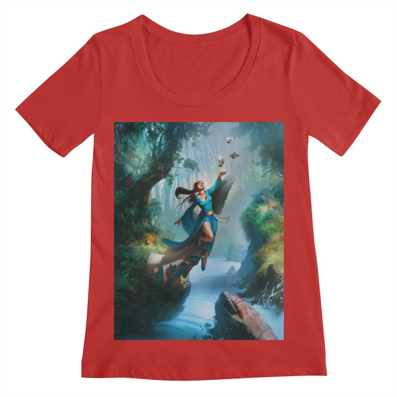 Wind Walker Women's Regular Scoop Neck by Draw Juice Custom Art Prints
