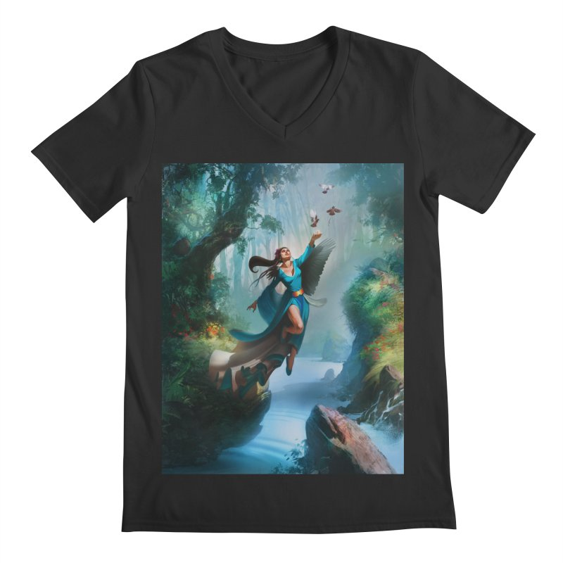 Wind Walker Men's Regular V-Neck by Draw Juice Custom Art Prints