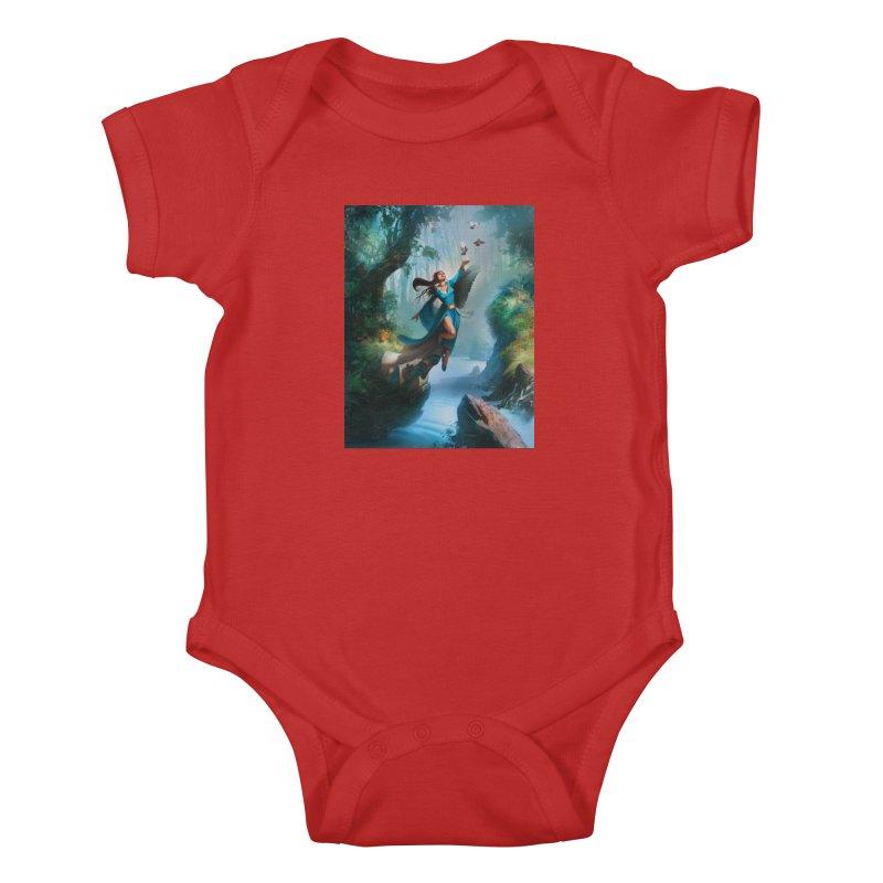 Wind Walker Kids Baby Bodysuit by Draw Juice Custom Art Prints
