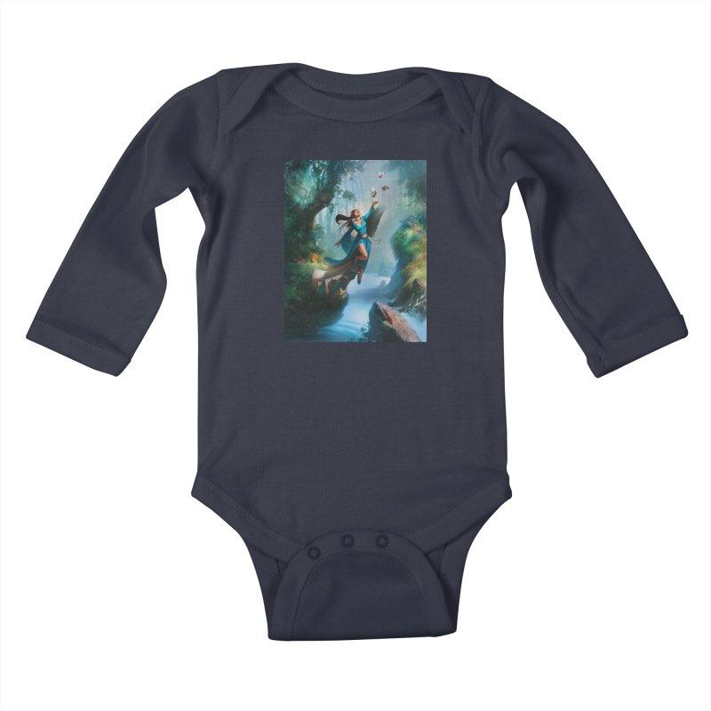 Wind Walker Kids Baby Longsleeve Bodysuit by Draw Juice Custom Art Prints