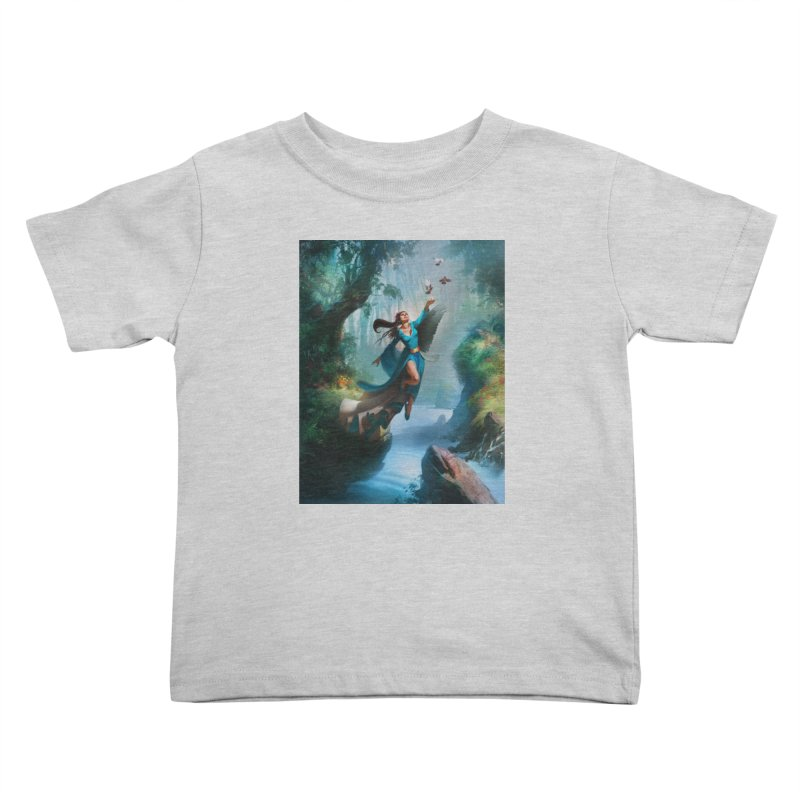 Wind Walker Kids Toddler T-Shirt by Draw Juice Custom Art Prints