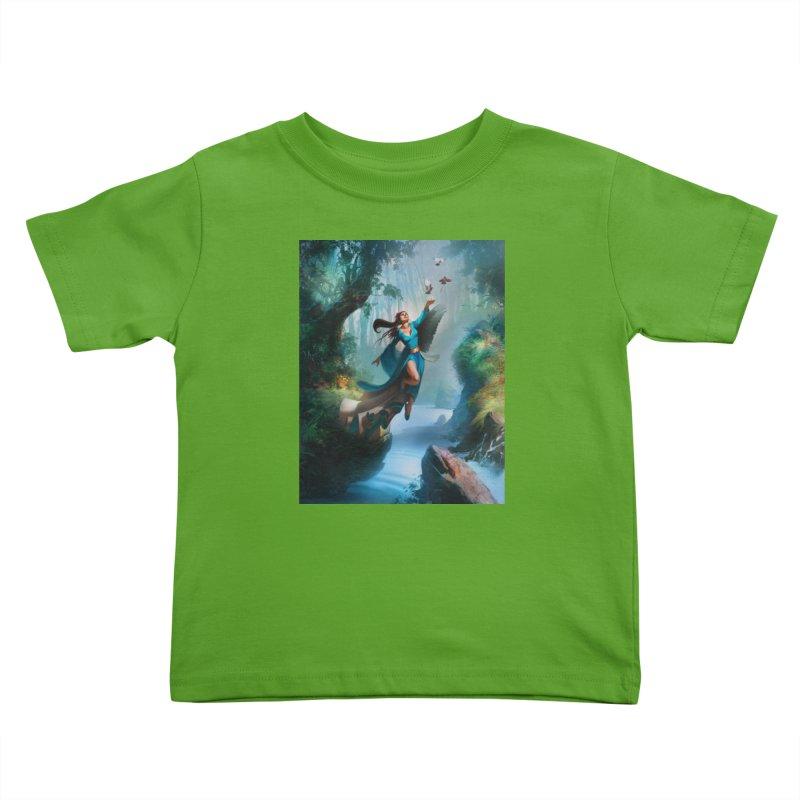 Wind Walker Kids Toddler T-Shirt by Draw Juice Custom Art Prints