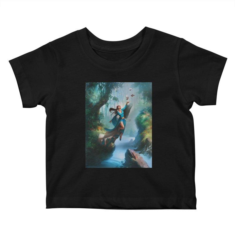 Wind Walker Kids Baby T-Shirt by Draw Juice Custom Art Prints