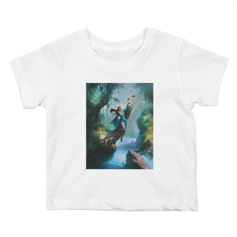Wind Walker Kids Baby T-Shirt by Draw Juice Custom Art Prints