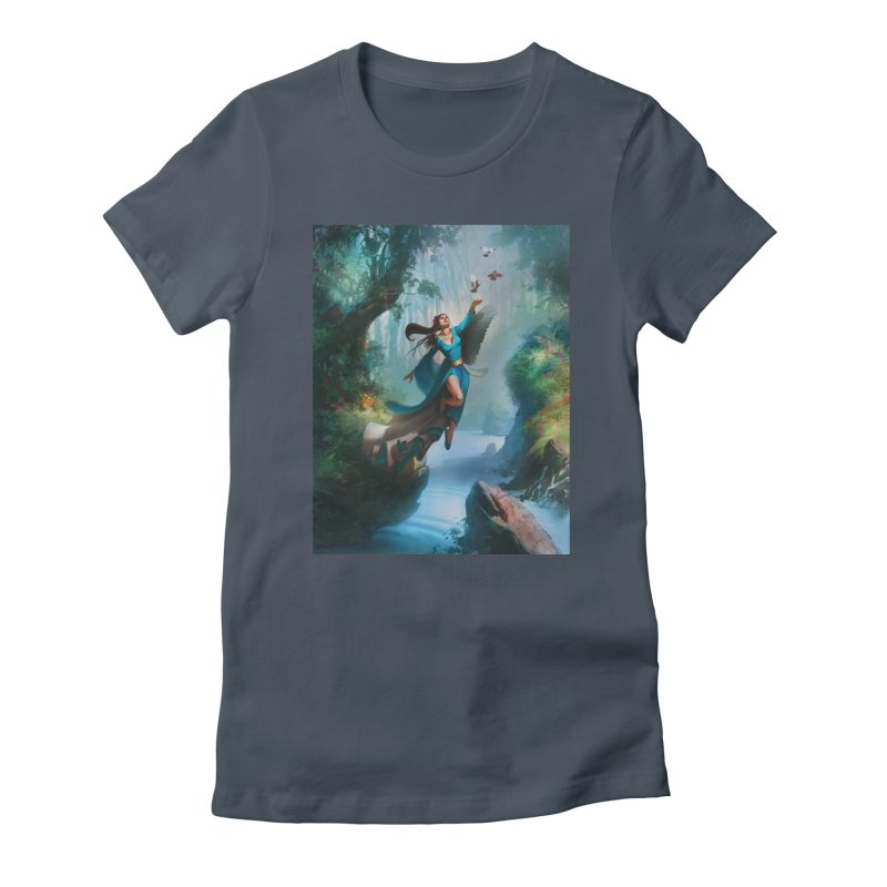 Wind Walker Women's T-Shirt by Draw Juice Custom Art Prints