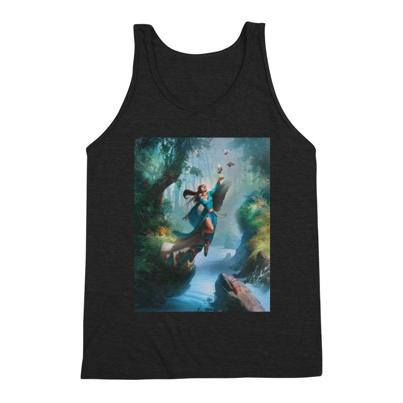 Wind Walker Men's Triblend Tank by Draw Juice Custom Art Prints