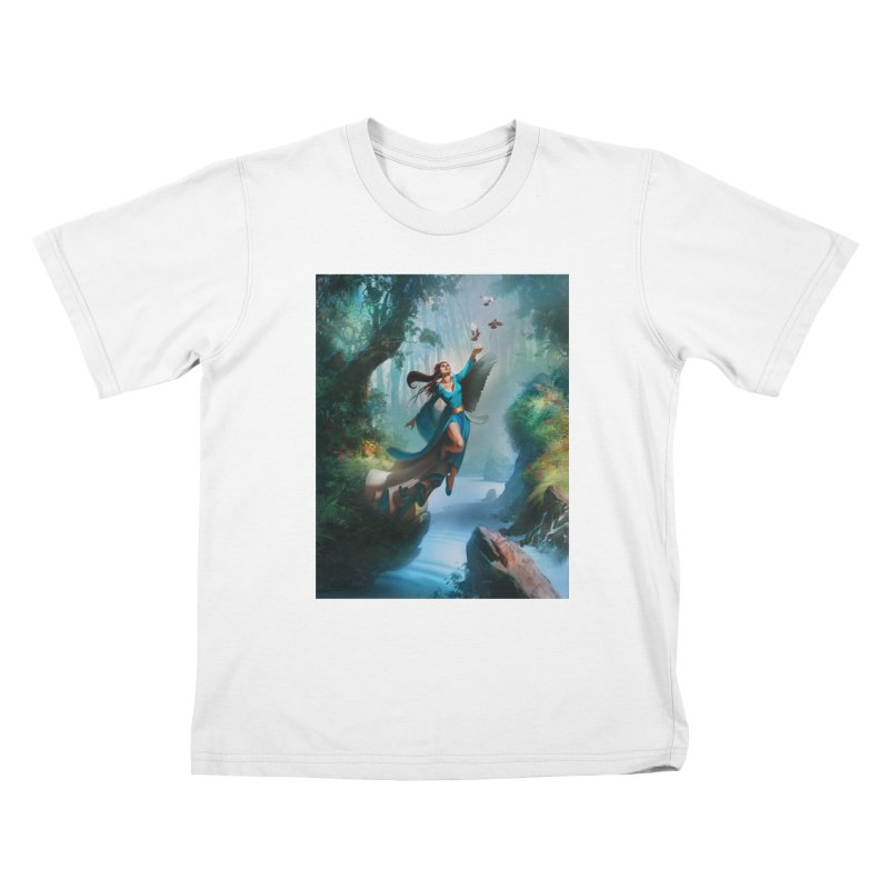 Wind Walker Kids T-Shirt by Draw Juice Custom Art Prints