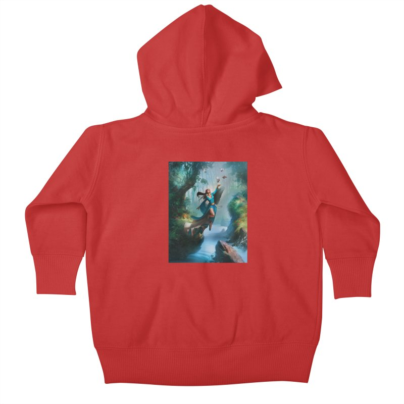 Wind Walker Kids Baby Zip-Up Hoody by Draw Juice Custom Art Prints