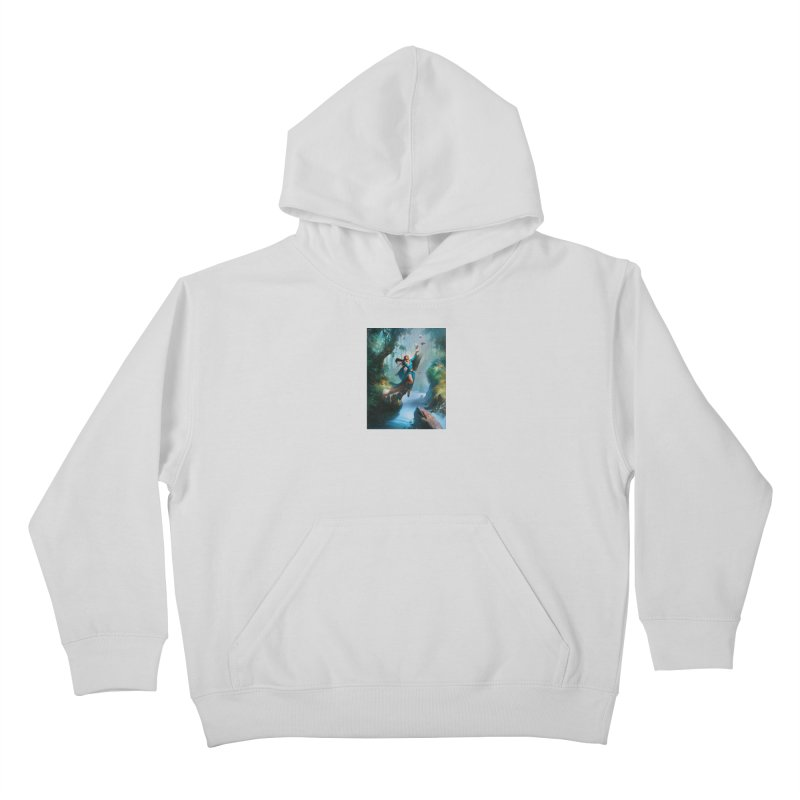 Wind Walker Kids Pullover Hoody by Draw Juice Custom Art Prints