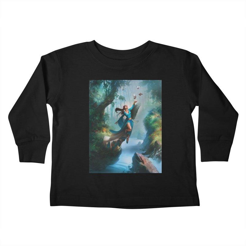 Wind Walker Kids Toddler Longsleeve T-Shirt by Draw Juice Custom Art Prints