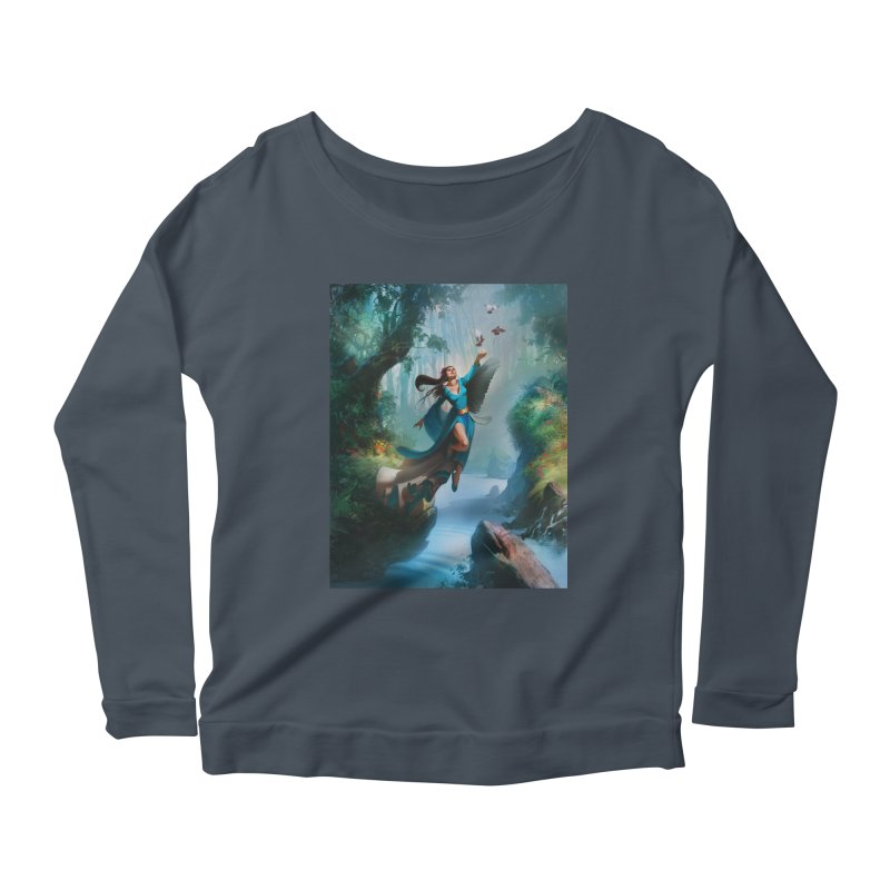 Wind Walker Women's Scoop Neck Longsleeve T-Shirt by Draw Juice Custom Art Prints