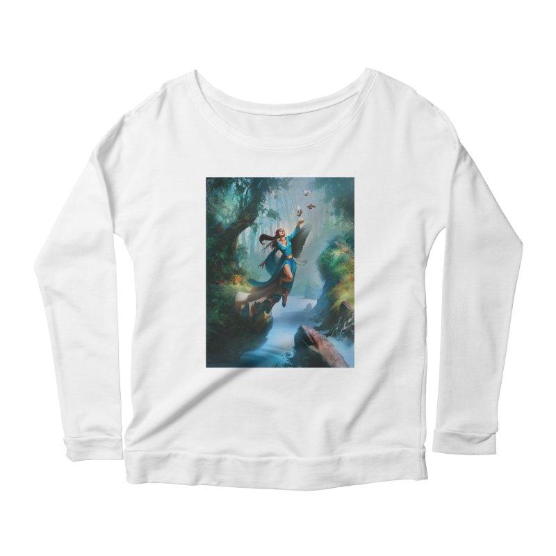 Wind Walker Women's Scoop Neck Longsleeve T-Shirt by Draw Juice Custom Art Prints