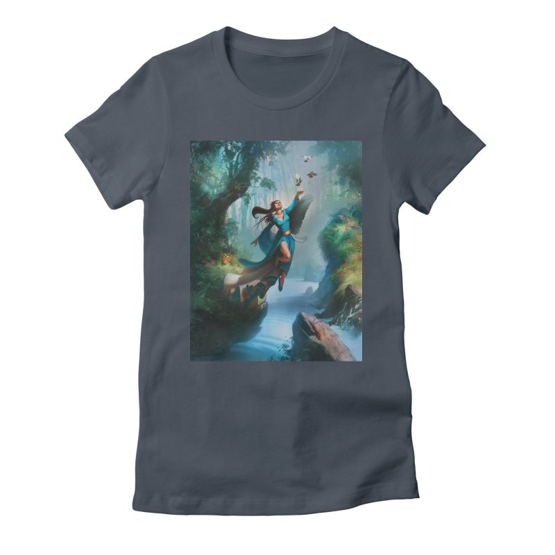 Wind Walker Women's T-Shirt by Draw Juice Custom Art Prints