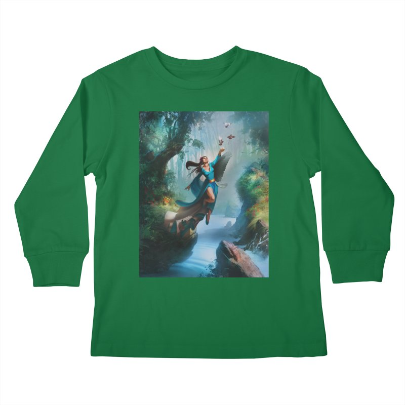 Wind Walker Kids Longsleeve T-Shirt by Draw Juice Custom Art Prints