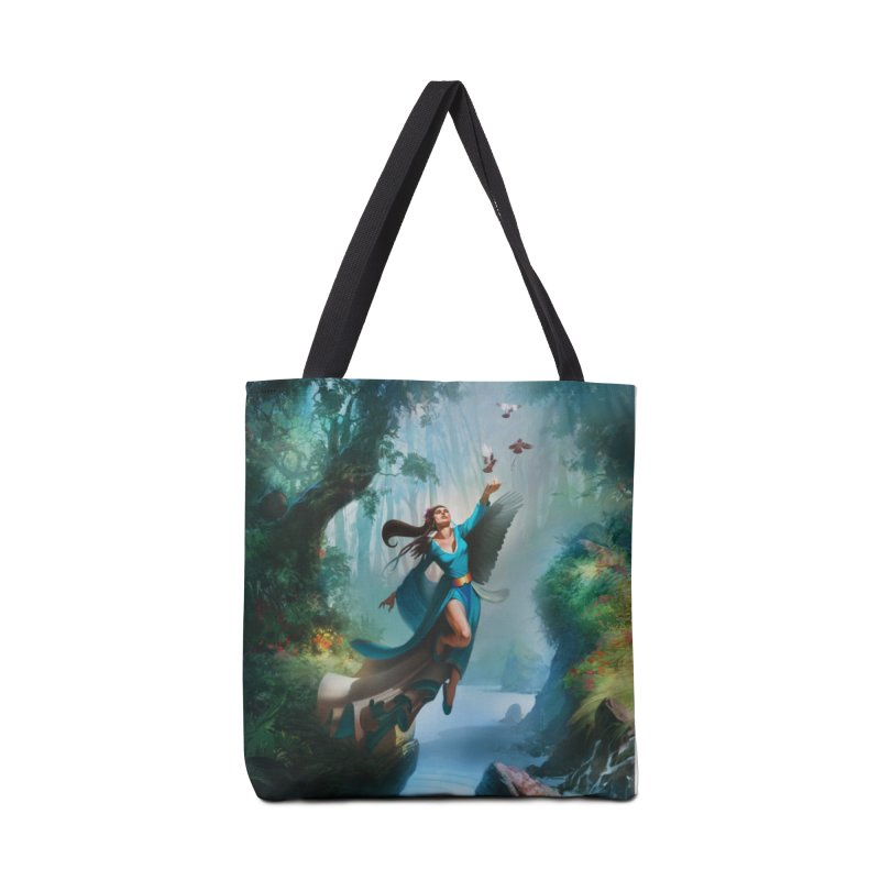 Wind Walker Accessories Tote Bag Bag by Draw Juice Custom Art Prints