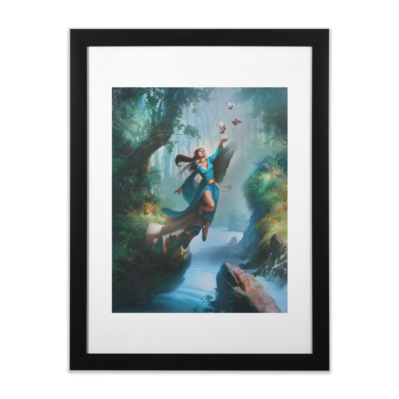 Wind Walker Home Framed Fine Art Print by Draw Juice Custom Art Prints