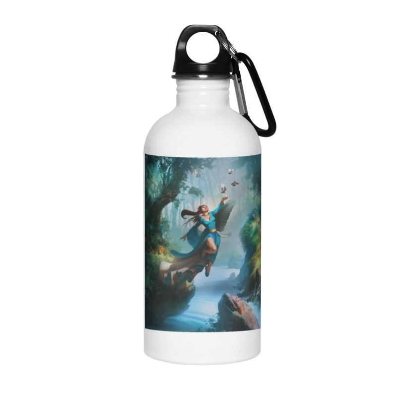 Wind Walker Accessories Water Bottle by Draw Juice Custom Art Prints