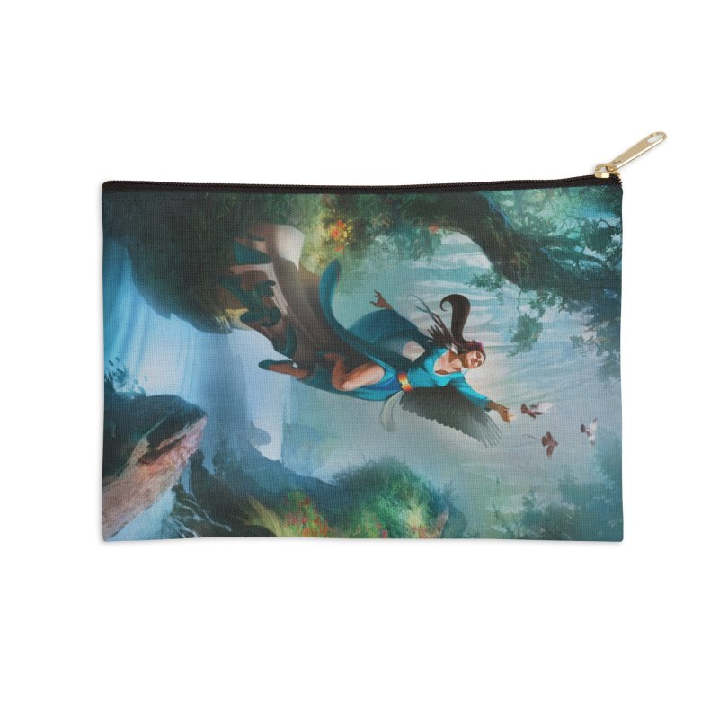 Wind Walker Accessories Zip Pouch by Draw Juice Custom Art Prints