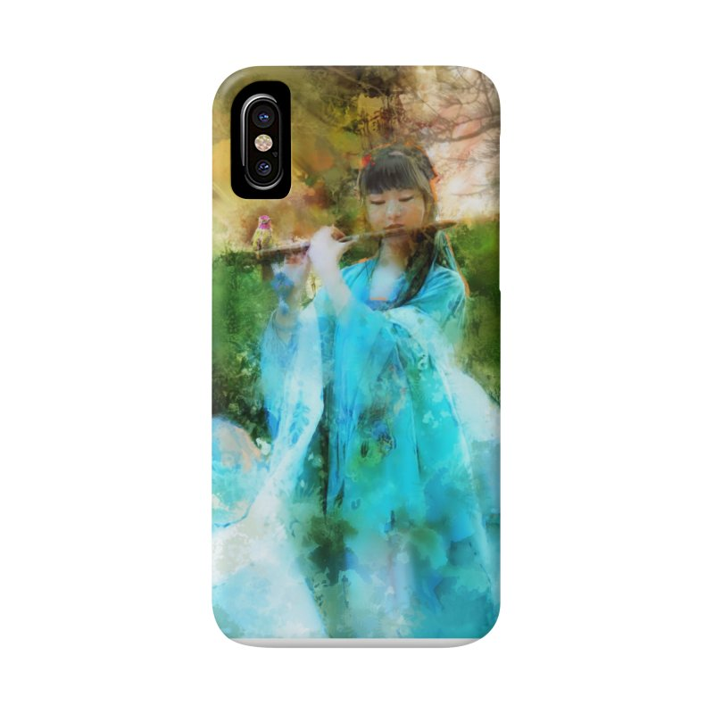 Hui Zi plays flute for the Super Being of mercy and grace Accessories Phone Case by Draw Juice Custom Art Prints