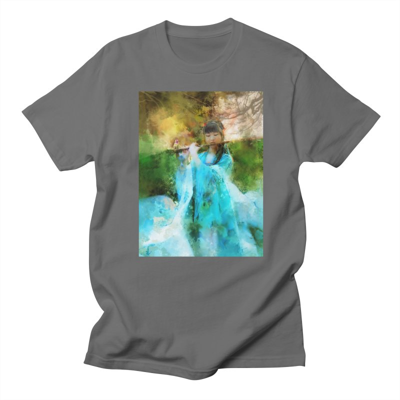 Hui Zi plays flute for the Super Being of mercy and grace Men's T-Shirt by Draw Juice Custom Art Prints