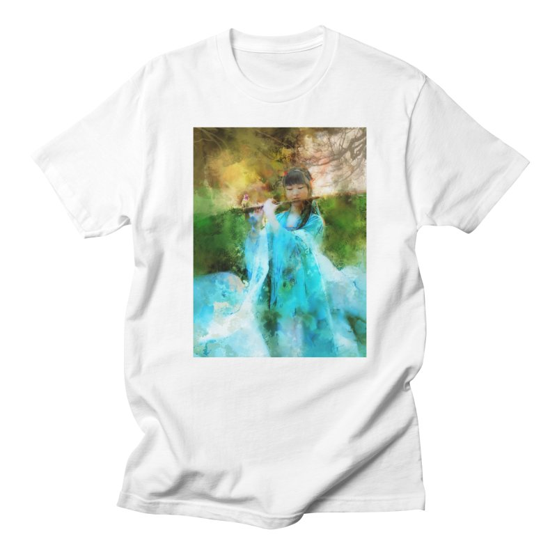 Hui Zi plays flute for the Super Being of mercy and grace Women's T-Shirt by Draw Juice Custom Art Prints