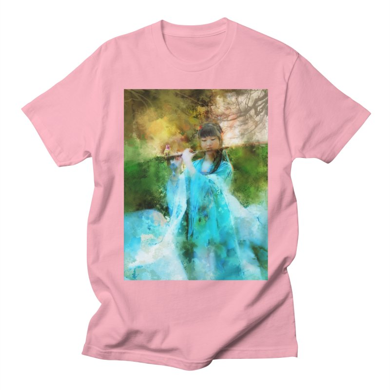 Hui Zi plays flute for the Super Being of mercy and grace Men's Regular T-Shirt by Draw Juice Custom Art Prints