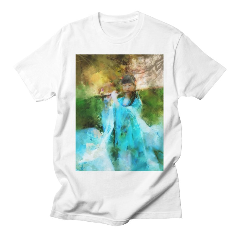 Hui Zi plays flute for the Super Being of mercy and grace Women's Regular Unisex T-Shirt by Draw Juice Custom Art Prints