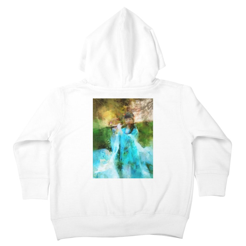 Hui Zi plays flute for the Super Being of mercy and grace Kids Toddler Zip-Up Hoody by Draw Juice Custom Art Prints