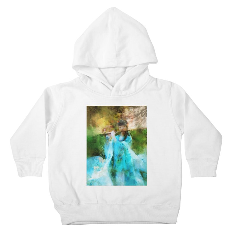 Hui Zi plays flute for the Super Being of mercy and grace Kids Toddler Pullover Hoody by Draw Juice Custom Art Prints