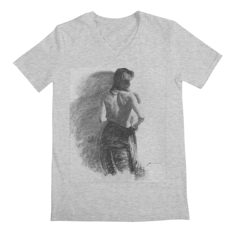 Repose Men's Regular V-Neck by Draw Juice Custom Art Prints