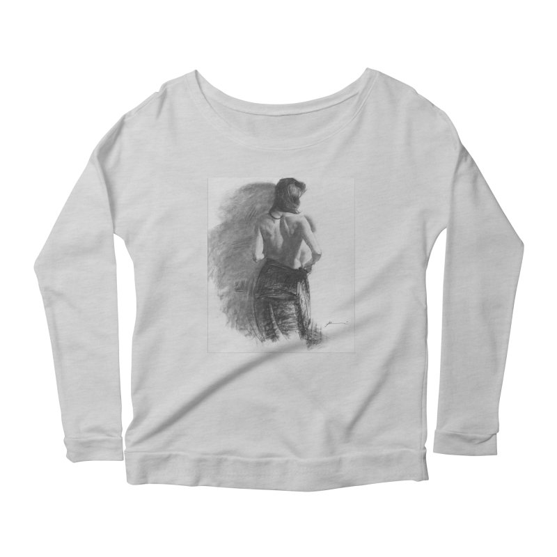 Repose Women's Scoop Neck Longsleeve T-Shirt by Draw Juice Custom Art Prints