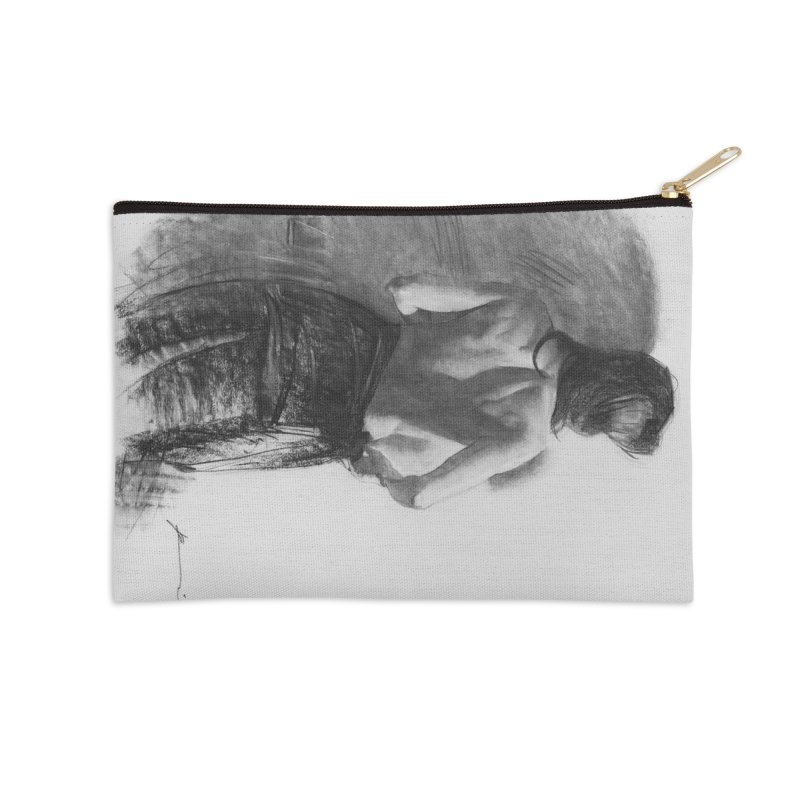 Repose Accessories Zip Pouch by Draw Juice Custom Art Prints