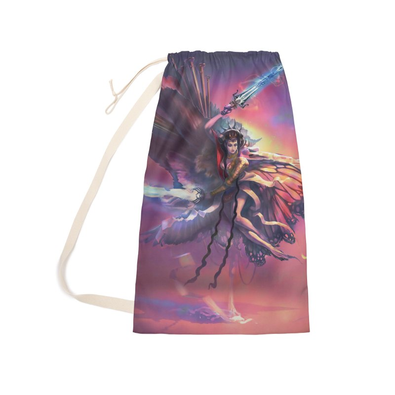 Angel Domini Accessories Laundry Bag Bag by Draw Juice Custom Art Prints