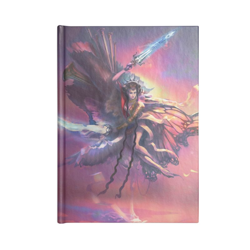 Angel Domini Accessories Lined Journal Notebook by Draw Juice Custom Art Prints