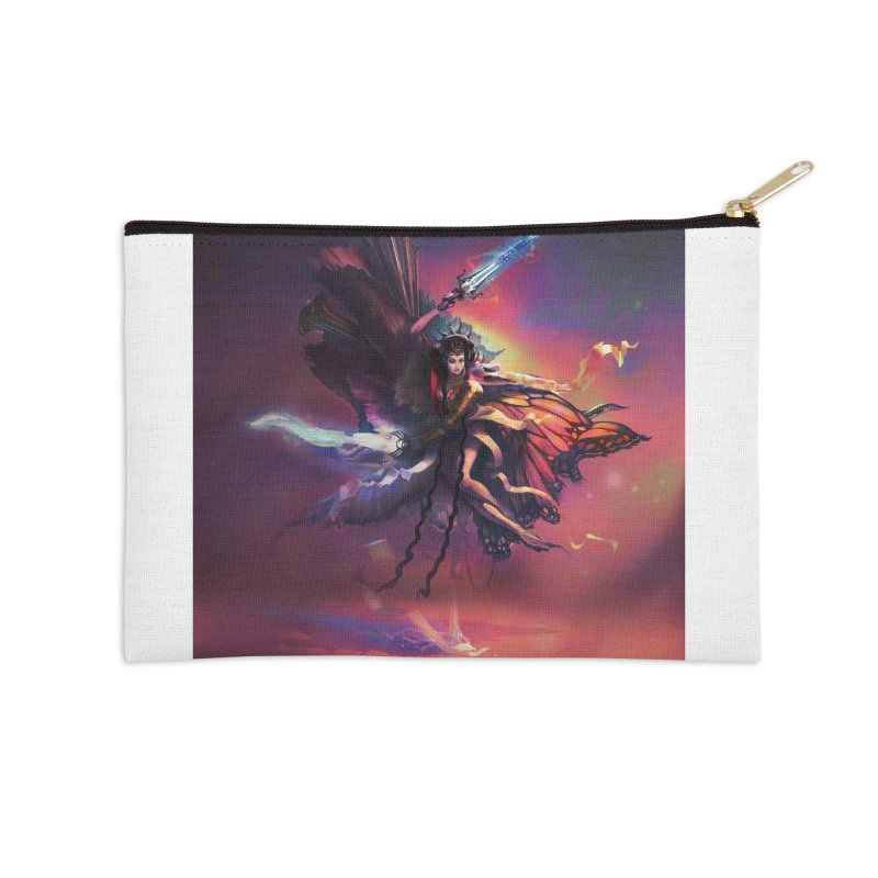 Angel Domini Accessories Zip Pouch by Draw Juice Custom Art Prints
