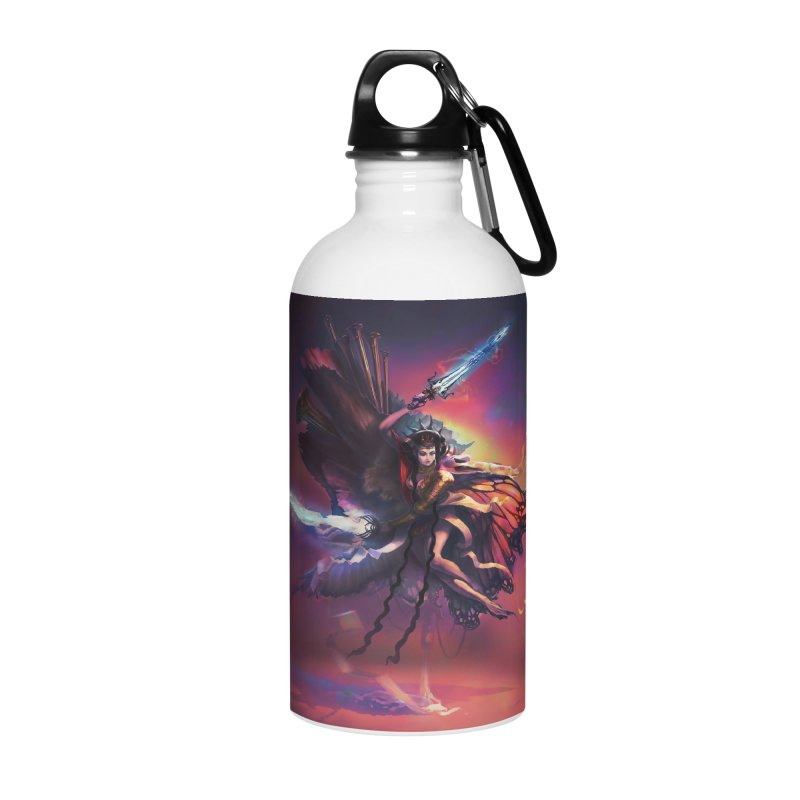 Angel Domini Accessories Water Bottle by Draw Juice Custom Art Prints