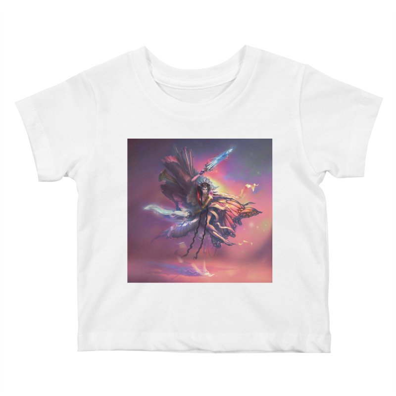 Angel Domini Kids Baby T-Shirt by Draw Juice Custom Art Prints