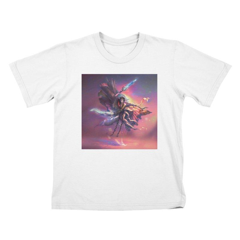 Angel Domini Kids T-Shirt by Draw Juice Custom Art Prints