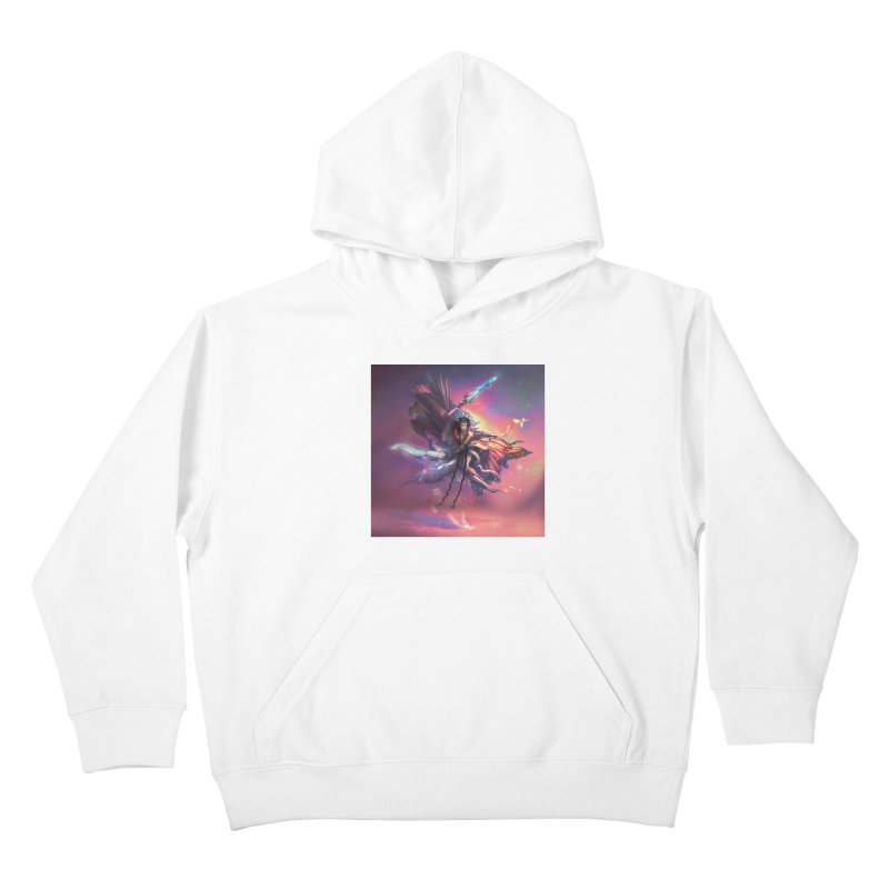 Angel Domini Kids Pullover Hoody by Draw Juice Custom Art Prints