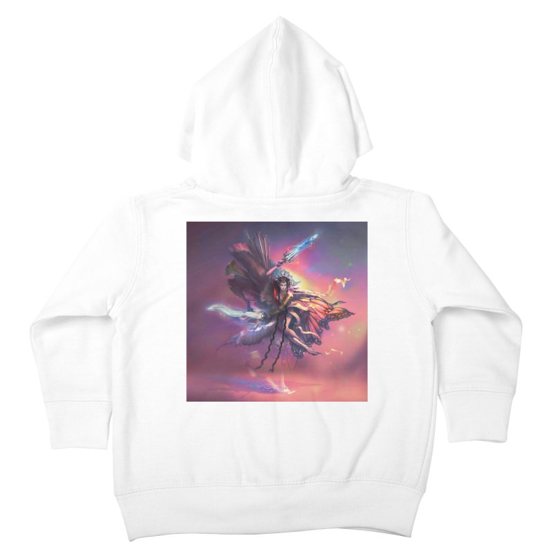 Angel Domini Kids Toddler Zip-Up Hoody by Draw Juice Custom Art Prints